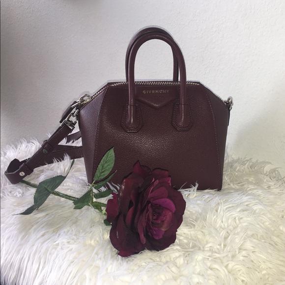 59b53996c4 Givenchy Handbags - Givenchy Antigona mini bag in oxblood red🌹